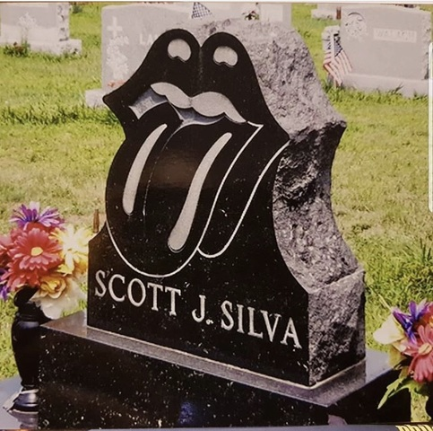 This guy went to his grave with The Stones! Pretty cool!
